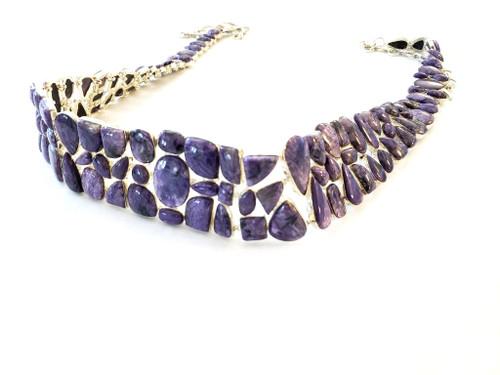 Purple Charolite Sterling Silver Gem VIBE Belt