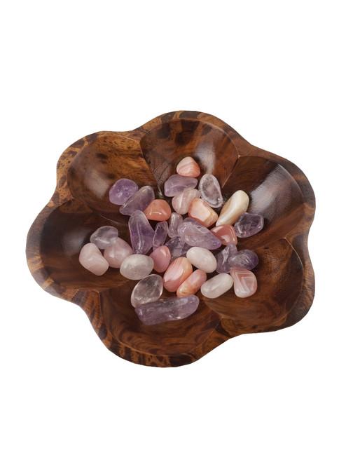 Mango Wood Lotus Bowl