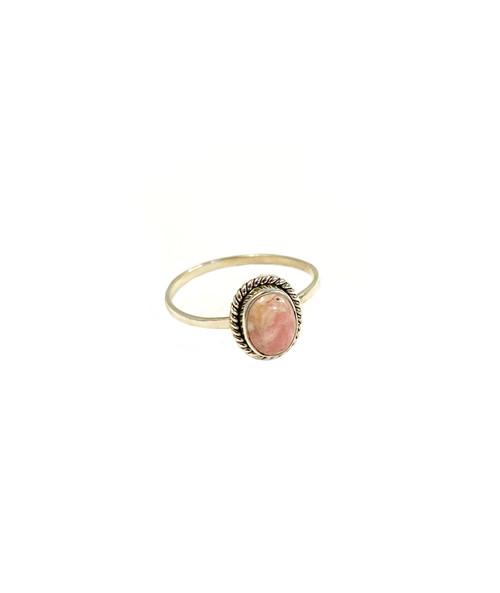 Petite Rhodochrosite Ring