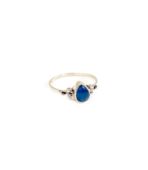 Petite Neon Apatite Ring Size 9