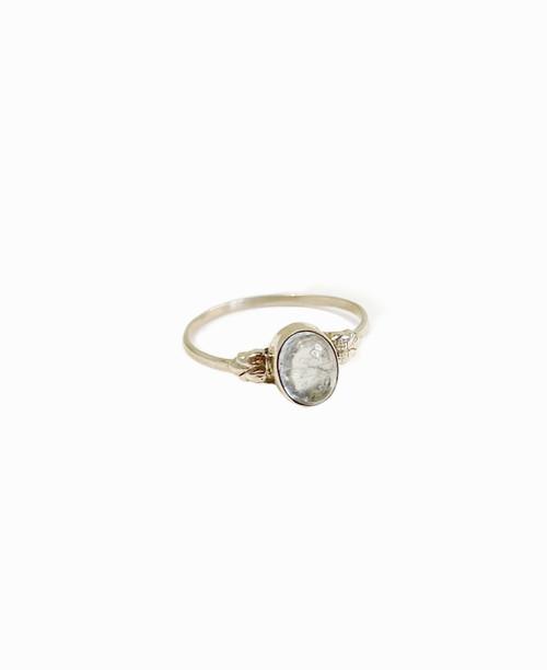 Petite Aquamarine Ring Size 9