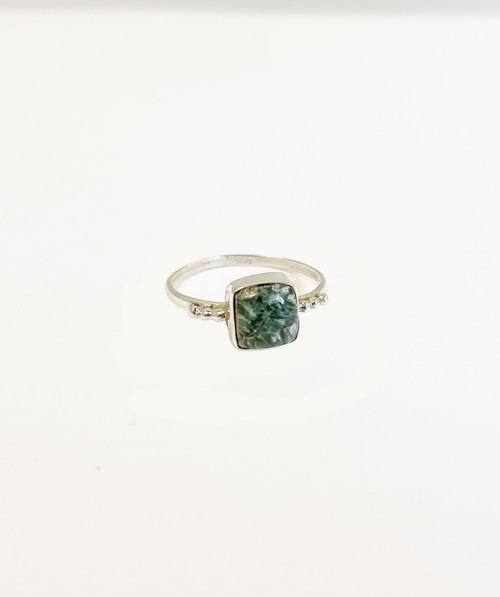Petite Seraphinite Ring Size 7