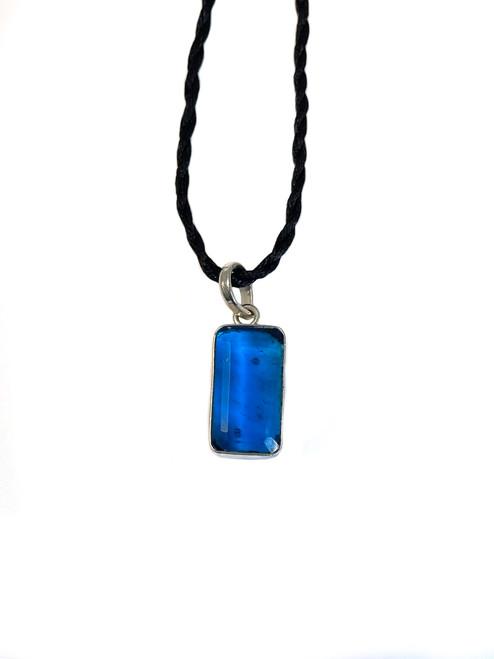 Petite Blue Quartz Eye Candy Pendant