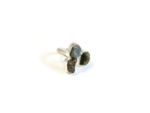 Mixed Tourmaline Adjustable Ring