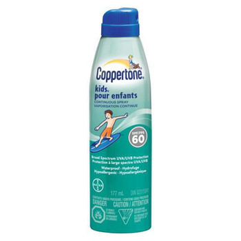 Coppertone Continuous Clear Sunscreen Spray for Kids SPF60 | 177mL