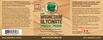 Pure Lab Magnesium Glycinate Powder 200g
