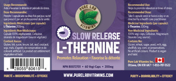 Pure Lab L-Theanine Slow Release 60