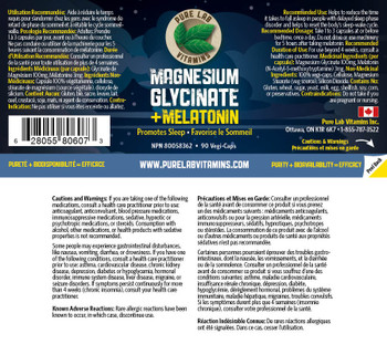 Pure Lab Magnesium Glycinate + Melatonin 90