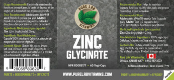 Pure Lab Zinc Glycinate 60