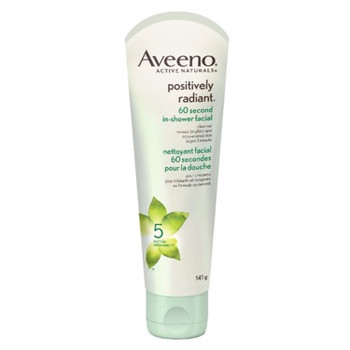 Aveeno Positively Radiant 60 Second In-Shower Facial Cleanser | 141g