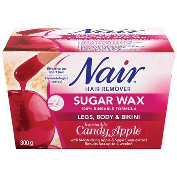 Nair Hair Remover Sugar Wax with Moisturizing Apple & Sugar Cane Extract - Legs, Body & Bikini | 300g