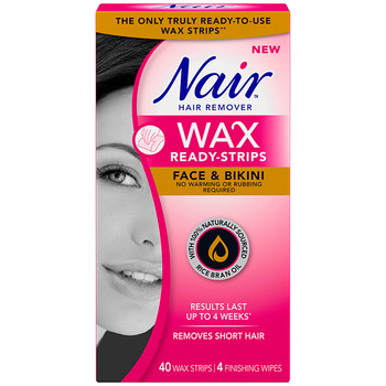 Nair Hair Remover Wax Ready-Strips - Face & Bikini | 40 Wax Strips