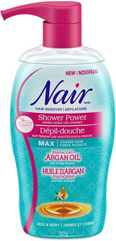 Nair Hair Remover Shower Power Cream with Moroccan Argan oil and Orange Blossom - Legs & Body | 312g