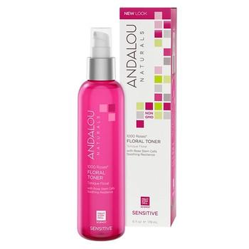 Andalou Naturals 1000 Roses Floral Toner with Rose Stem Cells for Sensitive Skin | 178 ml