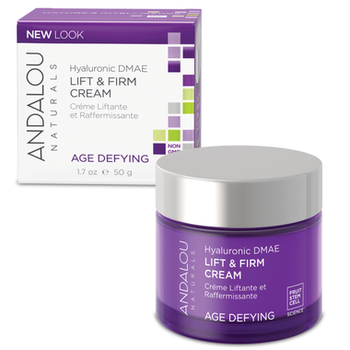 Andalou Naturals Hyaluronic DMAE Lift &  Firm Age Defying Cream | 50 g