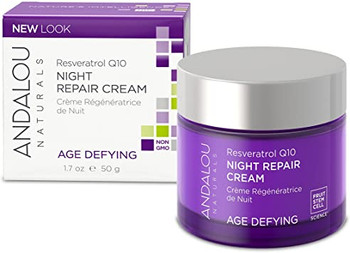Andalou Naturals Resveratrol Q10 Age Defying Night Repair Cream | 50 g