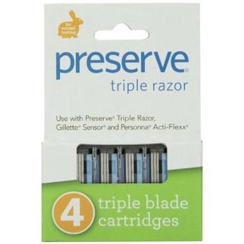 Preserve Triple Razor Replacement Blades | 4 Triple Blade Cartridges