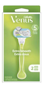 Gillette Venus Extra Smooth Razor   2 Cartridges + 1 Razor