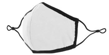 Protective Adjustable, Washable & Reusable Mask | White
