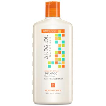 Andalou Naturals Argan Oil & Shea Shampoo for Soft, Smooth Sheen | 340 ml
