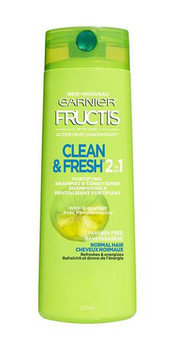 Garnier Fructis Clean & Fresh 2 in 1 Fortifying Shampoo & Conditioner with Active Fruit Protein | 370 ml