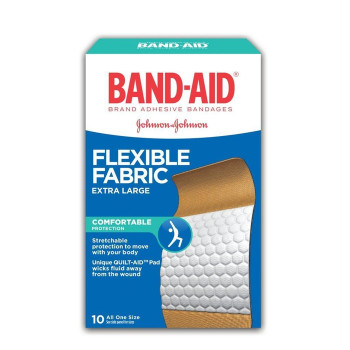 Band-Aid Flexible Fabric Extra Large Bandages | 10 pk