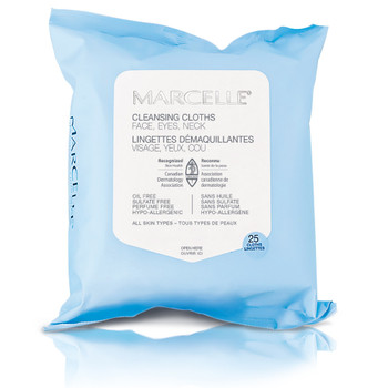 Marcelle Make-up Removing Cleansing Cloths | 25 Cloths
