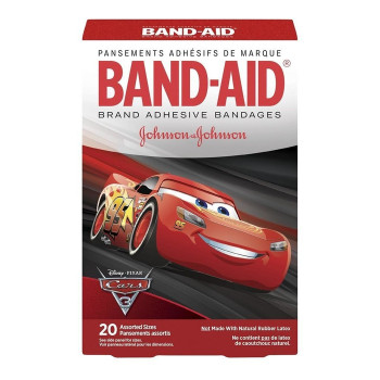 Band-Aid Disney Pixar Cars Bandages, Assorted Sizes | 20 Pack