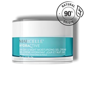 Marcelle Hydractive 24H Moisturizing Gel Cream Day & Night - All Skin Types   50 ml