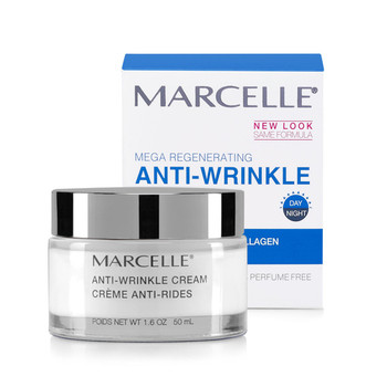 Marcelle Mega Regenerating Anti-Wrinkle Moisturizing Cream with Collagen & Nourishing Omegas   50 ml