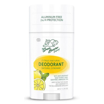Green Beaver Citrus Natural Deodorant with Anti-Odorant Sage Extract & Soothing Labrador Tea | 50 g