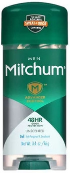 Mitchum Men Triple Odor Defense 48H Unscented Gel Antiperspirant | 96 g