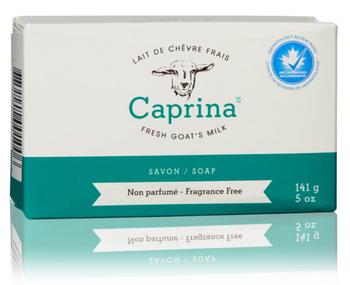 Caprina Fresh Goat's Milk Fragrance Free Soap Bar   141 g