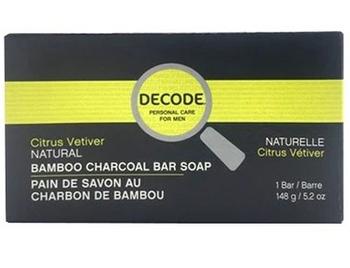 Decode for Men Citrus Vetiver Natural Bamboo Charcoal Soap Bar   148 g