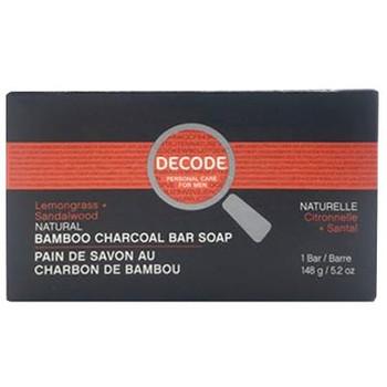 Decode Lemongrass + Sandalwood Natural Bamboo Charcoal Soap Bar | 148 g