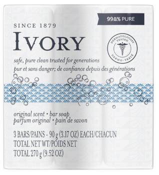 Ivory Original Scent Soap Bar | 3 Bars