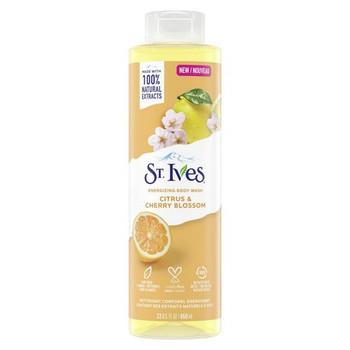 St. Ives Citrus & Cherry Blossom Energizing Body Wash   650 ml