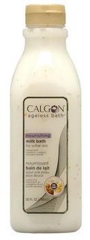 Calgon Ageless Bath Nourishing Milk Bath with Vitamin E, Collagen & Pearl Powder | 786 ml