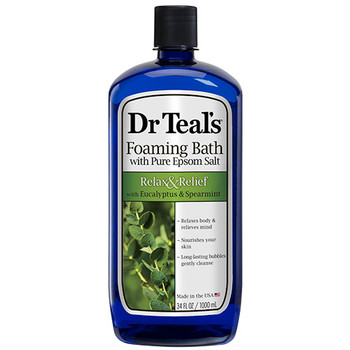 Dr. Teal's Relax & Relief Foaming Bath with Eucalyptus, Spearmint & Pure Epsom Salt | 1 L