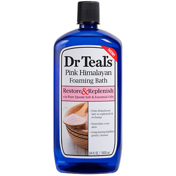 Dr Teal's Restore & Replenish Pink Himalayan Foaming Bath with Pure Epsom Salt & Essential Oils | 1 L