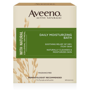 Aveeno Daily Moisturizing Bath - Fragrance Free | 8 x 21 g