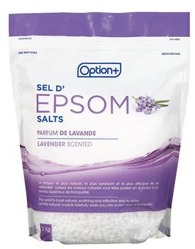 Option+ Epsom Salts Lavender Scented | 2 kg