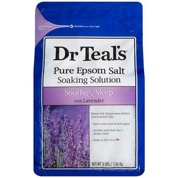 Dr Teal's Soothe & Sleep Pure Epsom Salt Soaking Solution with Lavender | 1.36 kg