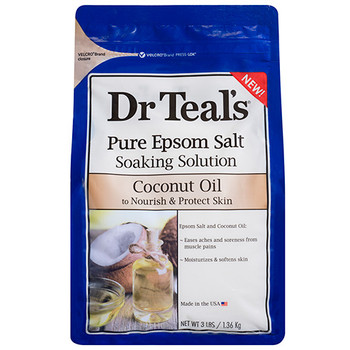 Dr Teal's Coconut Oil Pure Epsom Salt Soaking Solution to Nourish & Protect Skin | 1.36 kg