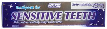 Option+ Tartar Control plus Whitening Toothpaste for Sensitive Skin - Fresh Mint   100 ml