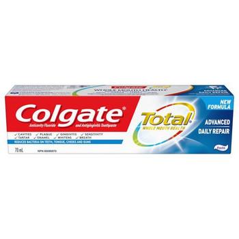 Colgate Total Advanced Daily Repair Anti-Cavity Fluoride Toothpaste | 70 ml