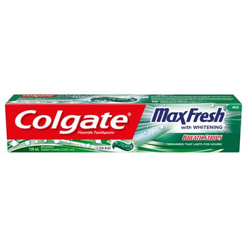 Colgate Max Fresh Whitening Fluoride Toothpaste - Clear Mint | 150 ml