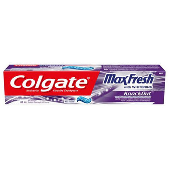 Colgate Max Fresh Whitening Anti Cavity Fluoride Toothpaste - Mint Fusion | 150 ml
