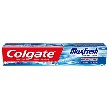 Colgate Max Fresh Whitening Anti Cavity Fluoride Toothpaste - Cool Mint | 52 ml