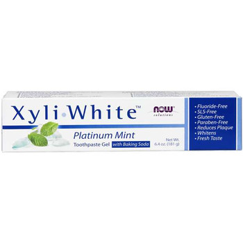 NOW Xyli-White Platinum Mint Toothpaste Gel | 181 g